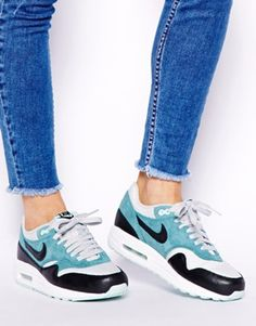 bf47582974a Image 3 of Nike Air Max 1 Essential Teal Trainers