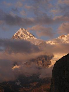 View from Murren, Berner Oberland, Switzerland