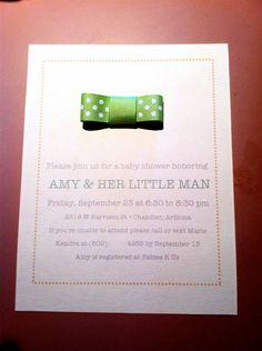 diy bowtie baby shower inspiration  invitation