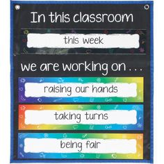 In This Classroom Space Saver Pocket Chart