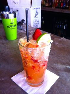 Strawberry Jalapeno Margarita!! Sounds good to me...who's coming over? :)
