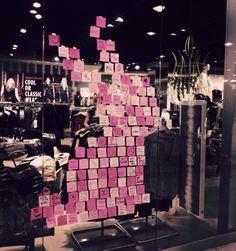 #TALLYWEiJL St Jakob re-#opening #store in #Basel - #Bunny post-it window