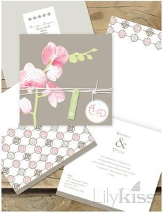 orchid delight-pretty wedding Lilykiss invite