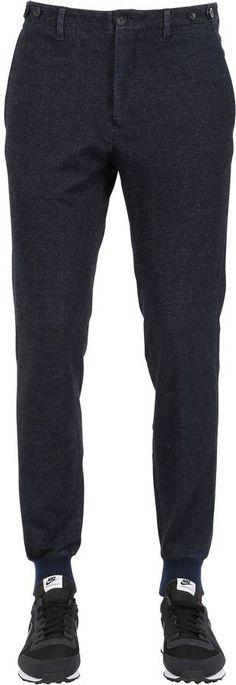 G・T・A Denim Effect Cotton Jogging Pant