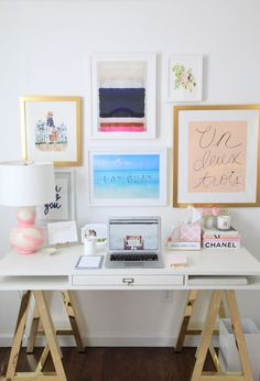 Loving @juliadzafic's office gallery wall featuring our Carson and Irvine Slim frames.