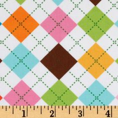 Remix Argyle Pink/Aqua/Brown