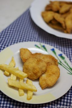 Filetes de pechugas de pollo empanado con copos de patatas