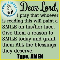 Thank You Lord for all the blessings and the JOY you give. AMEN.