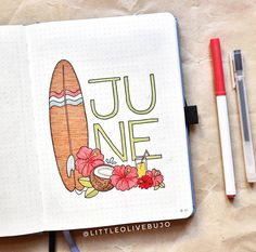 This tropical cover page giving me summer vibes! by This tropical cover page giving me summer vibes! Bullet Journal School, Bullet Journal Inspo, Bullet Journal Writing, Bullet Journal Banner, Bullet Journal Cover Page, Bullet Journal Aesthetic, Bullet Journal Ideas Pages, Bullet Journal Spread, Bullet Journal Layout