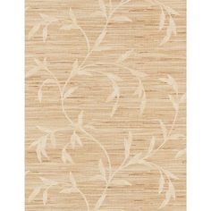 Weathered Finishes Ecru and Taupe Vine Scroll Wallpaper
