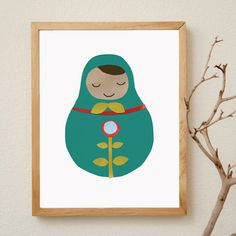 I have a thing for nesting dolls and this print is just so darn cute, colorful and sweet!