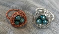 Made from one piece if wire and 3 freshwater pearls Color Ring, Single Piece, Fresh Water, Robin, Nest, Wire, Pearls, Rings, Jewelry