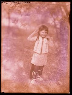Crow boy - 1905 believe in ghosts, look all around him!