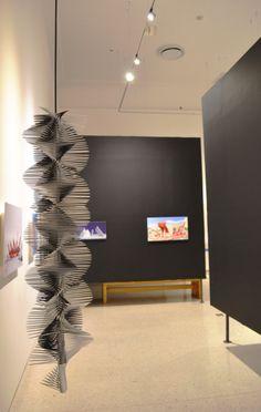 """Iluminación par la exposición """"Resumen del fuego"""" del arquitecto Fernando González Gortazar."""