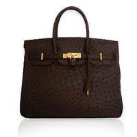 Hermes Birkin - Chocolate Brown Ostrich