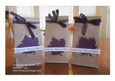 Adorable stampin up petite cafe gift bags for thanksgiving.