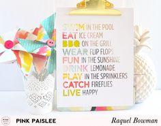 Summer: A Summer Vignette @raquelLbowman @pinkpaislee #pinkpaislee #fancyfree #homedecor #vignette #tutorial