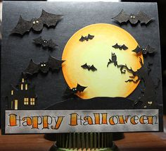Bats Halloween by IcePanthress - Cards and Paper Crafts at Splitcoaststampers