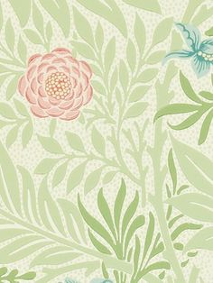 William Morris larkspur from John Lewis.  Color 212558 £58 per roll.