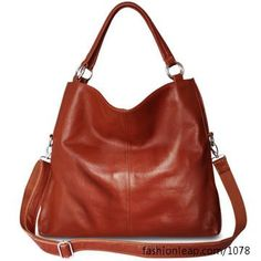 Great brown everyday handbag!  I love the versatility in carrying this purse.  :)