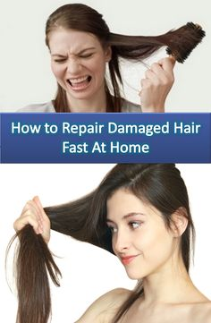 how to fix damaged hair fast