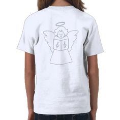 Christmas Angel Coloring Shirt, Zazzle custom gifts designed by Image Factory.