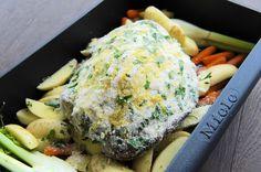 Jehněčí kýta v parmazánové krustě Salmon Burgers, Ethnic Recipes, Kitchen, Food, Cooking, Kitchens, Essen, Meals, Cuisine