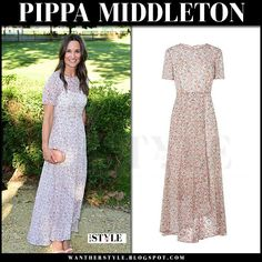 Pippa Middleton in floral print maxi dress
