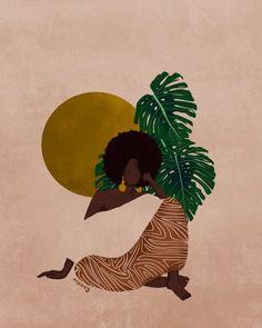 Black Love Art, Black Girl Art, Art Girl, Black Art Painting, Black Artwork, Art And Illustration, Illustrations, Afrique Art, Frida Art
