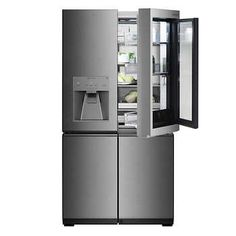 """NXR-PRO 48"""" Professional Style GAS Range in Stainless Steel - NXRPRO4851 Counter Depth Refrigerator, Refrigerator Freezer, French Door Refrigerator, Kitchen Refrigerator, Kitchen Appliances, Restaurant Kitchen Equipment, Door Texture, Video Game Rooms, Door Shelves"""