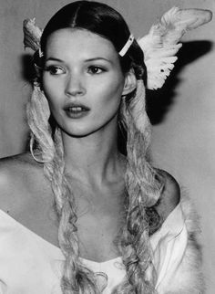 Kate Moss, John Galliano, 1990's. The 90s fashions are considered vintage now! I'm so old... lol