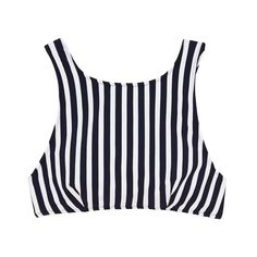 Joy Bikini Top Midnight Stripe