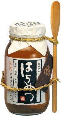 A honey jar designed by Sakota Tsukasa.