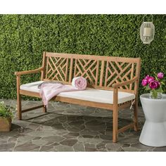 Inspired by furnishings in the regal gardens that surround Newport's Gilded Age mansions, this 3 seat outdoor bench is a classic.