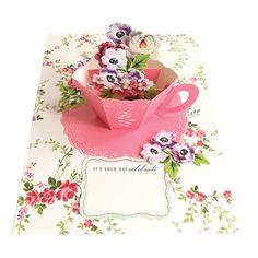 New Crafts, Paper Crafts, Tea Party Crafts, Anna Griffin Cards, Color Kit, Craft Day, Square Card, Silk Ribbon Embroidery, Pop Up Cards