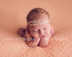 Diadema de mohair, Tieback de Mohair, Tieback Mohair recién, recién Mohair, Tieback recién, venda recién nacida, fotografía de apoyo, Foto Prop