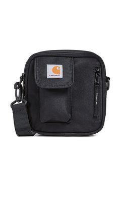 Carhartt Small Essentials Bag In Navy Carhartt Bag, Shoulder Strap, Shoulder Bags, Grey Yellow, Messenger Bag, Satchel, Essentials, Pouch, Navy