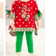 Molly & Millie Holiday Reindeer Stripes  from Freckles Children's Boutique for $68.00