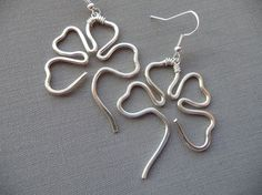 Lucky Four Leaf Clover/Shamrock Earrings, St. Patrick's Day