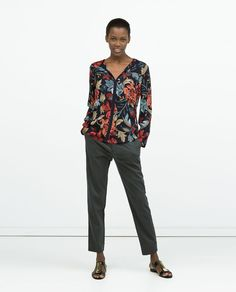 Image 1 of PRINTED SHIRT WITH CONTRAST EDGING from Zara