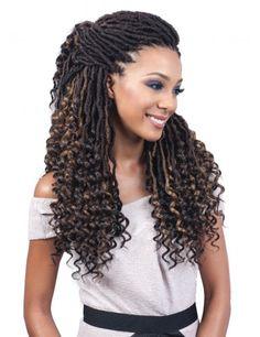 # jumbo box Braids curly ends Bobbi Boss Synthetic Crochet Braid Nu Locs Curly Tips - Elevate Styles Box Braids Hairstyles, Curly Braids, Blonde Box Braids, Black Hairstyles, Hairstyles 2016, Roman Hairstyles, Braids Easy, Updo Hairstyle, Ghana Braids