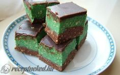 Shrek-szelet recept fotóval Shrek, No Bake Cake, Food And Drink, Baking, Recipes, Lovers, Pies, Bakken, Recipies