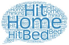 "Kannst du so gut Englisch: ""When I got home, I hit the bed thinking."" http://sentencemining.languageminingcompany.com/327?utm_content=buffer192f4&utm_medium=social&utm_source=pinterest.com&utm_campaign=buffer"