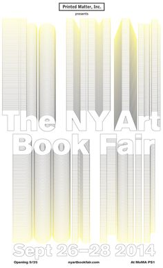 Promotional Poster for NY Art Book Fair