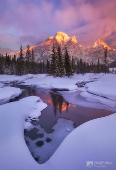 Mount Kidd Reflecting Pools Winter