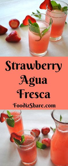 Agua Fresca, the traditional Mexican fruity drink, is a healthy and easy summer drink. Fresca Drinks, Fruity Drinks, Refreshing Cocktails, Summer Drinks, Alcoholic Beverages, Mexican Picnic, Mexican Drinks, Mexican Food Recipes, Mexican Cooking