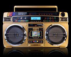 Lasonic Gold Boombox iPod Dock