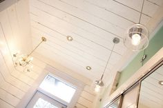 wood plank walls and ceiling.  yum.