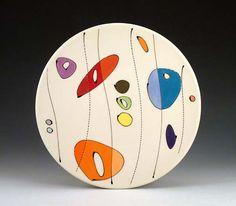 Assiette motifs colorés