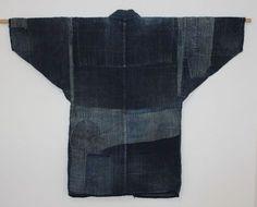 Japanese Antique Textile Noragi Hemp Boro